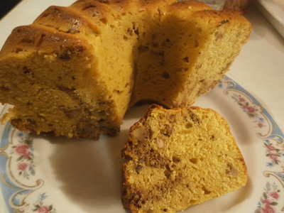 Dýňová kořeněná bábovka (chlebíček, muffiny)