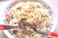 Italské těstoviny s pórkem