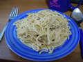 Špagety se sýrovo-houbovou omáčkou